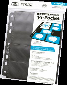 4056133002516 Ultimate Guard - 14 Pochettes Standard/Mini American Pages Noir