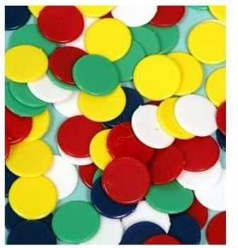 5510107105 Jetons, Tokens Plastique Pour Jeux Divers (100 Pieces)
