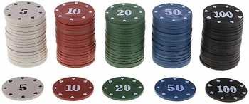 5510107116 Jetons De Poker 100 Pieces
