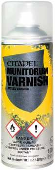 5011921094530 Bombe Aerosol de Vernis MAT- Couche de finition - Munitorum Varnish Citadel