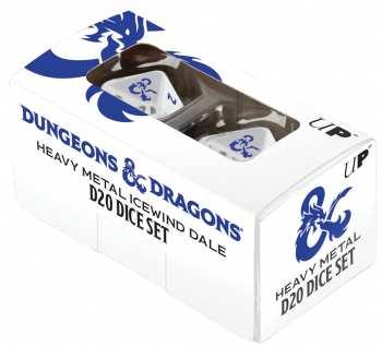 74427183547 Set De 2 Dés 20 Donjons Et Dragons ( Heavy Metal Icewind Dale )