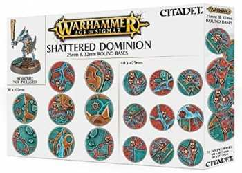 5011921073115 Warhammer Age Of Sigmar Shattered Dominion Socles Ronds 25mm Et 32mm