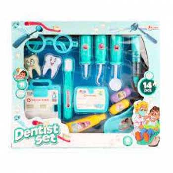 8719904184243 Jouet Set De Dentiste 14 Pieces - Toi Toy