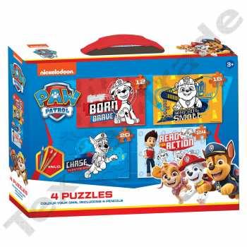 8720246220155 nsemble de 4 Puzzles Pat Patrouille A Colorier