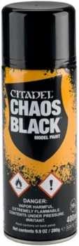 5011921154470 Peinture Citadel Bombe De Sous-couche Noire Chaos 400ml
